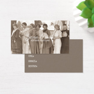Antike arbeitet extravaganten Damen Retro Visitenkarte