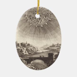 Antike Astronomie-himmlischer Himmel mit Sun durch Keramik Ornament