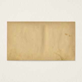 Antike beflecktes leeres Bedrängnis-Gelb-Papier Visitenkarte