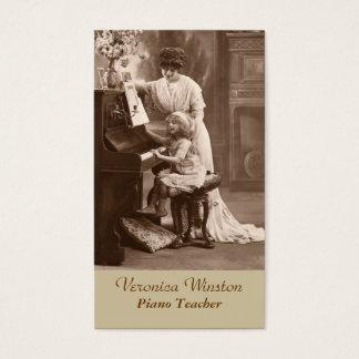 Antike Bild-Klavier-Lehrer-Visitenkarte Visitenkarte