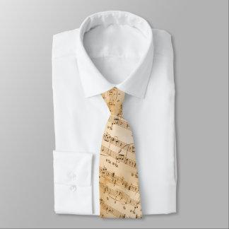 Antike Blatt-Musik-Krawatte Krawatte