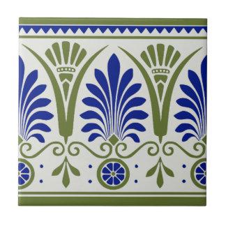 Antike blaues Grün Palmette Deko-Grenzfliese Repro Keramikfliese