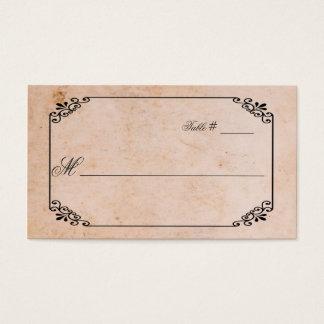 Antike Blick-Hochzeits-Platzkarte Visitenkarte
