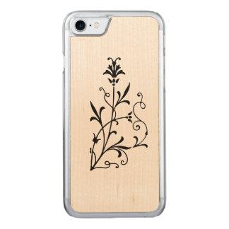 Antike Blumen blühen Carved iPhone 8/7 Hülle