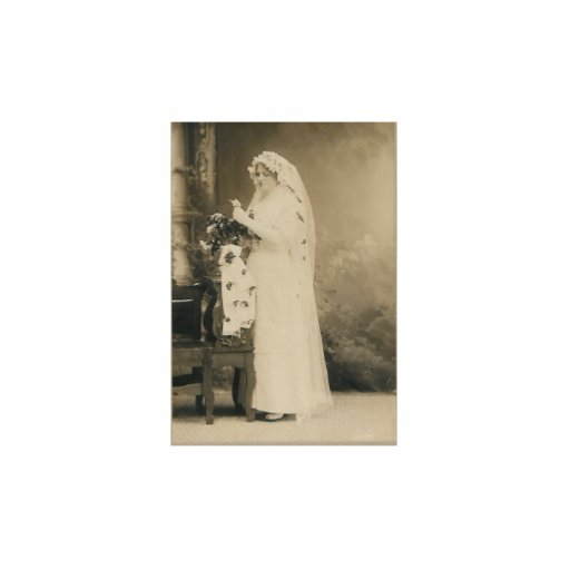 Antike Braut-Fotoskulptur
