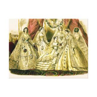 Antike Braut-Vintage Hochzeit Leinwanddruck