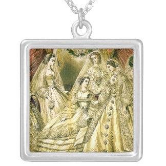Antike Braut-Vintage Hochzeit Versilberte Kette