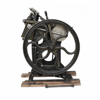 antike Briefbeschwerer-Fotoskulptur Freistehende Fotoskulptur