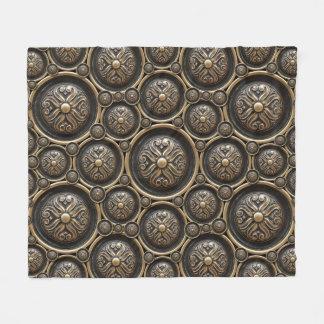 Antike Bronzemuster-Fleece-Decke Fleecedecke