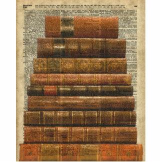 Antike Buch-Illustration über Wörterbuch-Seite Freistehende Fotoskulptur