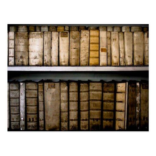 Antike bucht Pergament-Schwergängigkeiten des 17.  Postkarte