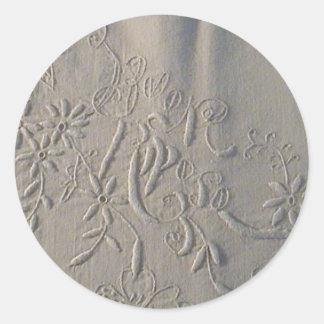 """Antike """"Buon Riposo"""" italienisches Hochzeits-Blatt Runde Sticker"""