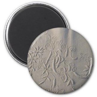 """Antike """"Buon Riposo"""" italienisches Hochzeits-Blatt Runder Magnet 5,7 Cm"""