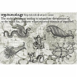 Antike Cryptozoology-Foto-Skulptur Foto Ausschnitte