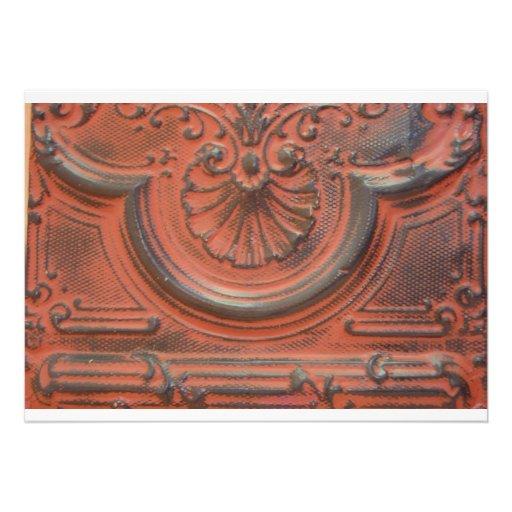 Antike decken fliesen einladung 12 7 x 17 8 cm einladungskarte zazzle - Decken fliesen ...