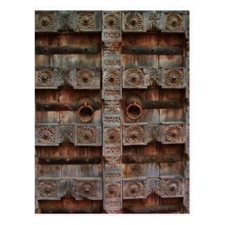 Antike doppelte Türen Postkarten
