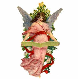 Antike Engels-Weihnachtsbaum-Verzierung Fotoskulptur Ornament