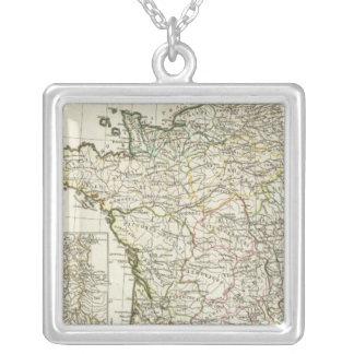 Antike europäische Karte Halskette Mit Quadratischem Anhänger