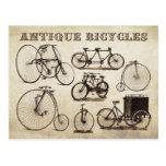 Antike Fahrräder (Velocipedes) Postkarte