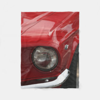 Antike Fahrzeug-Scheinwerfer-Rot-Farbe Fleecedecke
