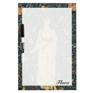 Antike Flora Williams Morris personalisiert Trockenlöschtafel