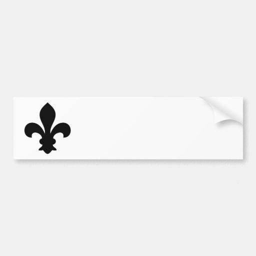 Antike französische Chic-Lilien-Silhouette Autoaufkleber