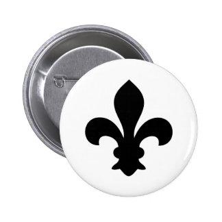 Antike französische Chic-Lilien-Silhouette Button
