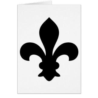 Antike französische Chic-Lilien-Silhouette Karten