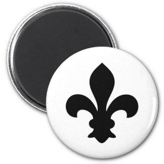 Antike französische Chic-Lilien-Silhouette Magnets