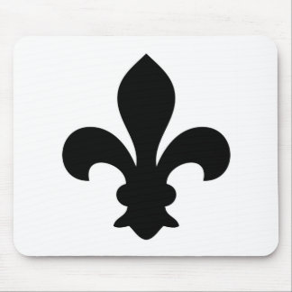 Antike französische Chic-Lilien-Silhouette Mauspads