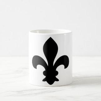 Antike französische Chic-Lilien-Silhouette Tee Tasse