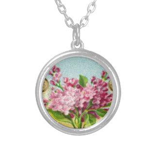 Antike französische lila Halskette