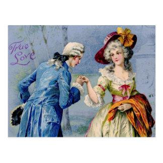 Antike französische wahre Liebevalentine-Postkarte