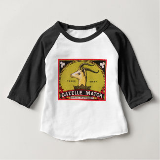 Antike Gazellen-schwedischer Baby T-shirt