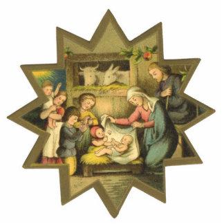 Antike Geburt Christis-Weihnachtsverzierung Fotoskulptur Ornament