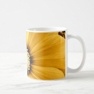 Antike gelbe Blumen-Schale Kaffeetasse