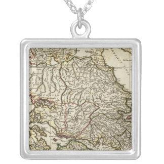 Antike griechische Karte Halskette Mit Quadratischem Anhänger