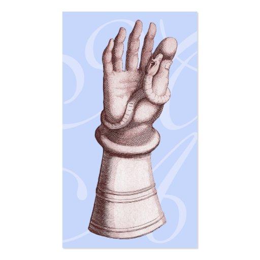 Antike heraldische Bild-Hand im Handschuh mit Visitenkarten | Zazzle