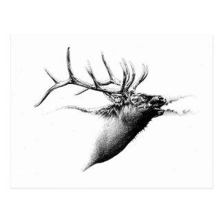 Antike Hirschkunst, die handgemachte Natur Postkarte
