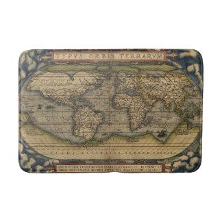 Antike Karte der Welt Badematten