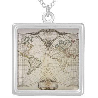 Antike Karte der Welt Halsketten