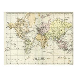 Antike Karte der Welt Postkarten