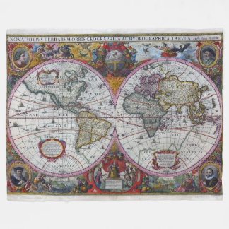 Antike-Karte Fleecedecke