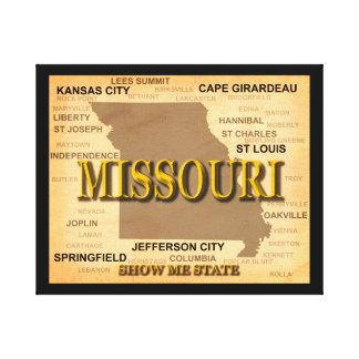 Antike Karte Missouris Leinwanddruck
