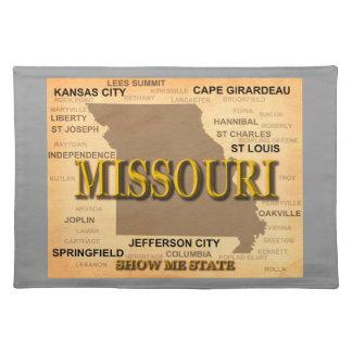 Antike Karte Missouris Tischset