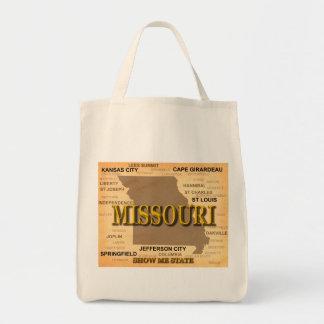 Antike Karte Missouris Tragetasche