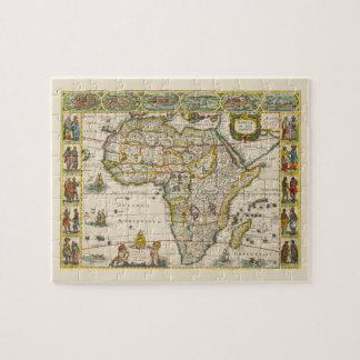 Antike Karte von Afrika durch Hondius und Jansson Puzzle