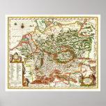 Antike Karte von Deutschland C. 1657 Poster