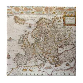 Antike Karte von Europa durch Willem Jansz Blaeu, Fliese