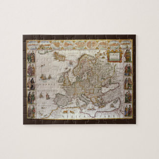 Antike Karte von Europa durch Willem Jansz Blaeu, Puzzle